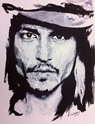 Blackandwhite Painting Posters - The Depp Poster by Wade Edwards