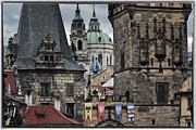 Historic Buildings Posters - The Depths of Prague Poster by Joan Carroll