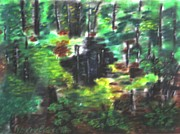 Herb Pastels Prints - The Depths Of The Forest Print by Victor Berelovich