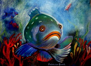 Featured Pastels Metal Prints - The Depths of the Great Blue Metal Print by Patricia Bunk