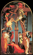 Religious Jesus On Cross Framed Prints - The Descent from the Cross Framed Print by Rosso Fiorentino
