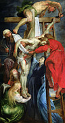 St John Of The Ladder Art - The Descent from the Cross by Rubens
