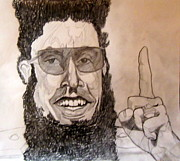 Leader Drawings Originals - The Dictator - Sacha Baron Cohen by Donald William