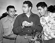 Famous Athletes Prints - The DiMaggio Brothers Print by Underwood Archives