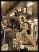 Deep In Thought Prints - The Diner Print by Robert Ball