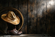 Western Boots Posters - The Dirty Hat Poster by Olivier Le Queinec