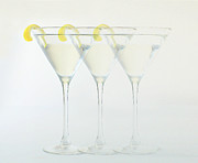 Lemon Pyrography Metal Prints - The Disappearing Martini Metal Print by Rene Sheret