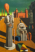 Muses Photos - The disquieting muses by Giorgio de Chirico by Stefano Baldini