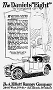 Advertisement Mixed Media Prints - THE DISTINGUISHED CAR of  1916 Print by Daniel Hagerman