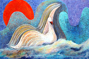 Waterscape Painting Metal Prints - The Divine Journey Metal Print by Manjit Mejie