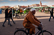 Moroccan Framed Prints - The Djemaa el Fna Framed Print by Daniel Kocian