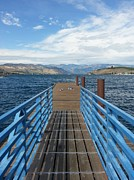 Chelan Prints - The Dock Print by Leah  Welch
