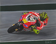 Motogp Prints - The Doctor Print by David Wright