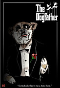 The Godfather Digital Art Framed Prints - The Dogfather Framed Print by Frank Svoboda