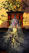 Ghost Story Digital Art Prints - The Doll House Print by Larry Butterworth