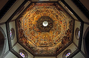Florentine Posters - The Dome of Basilica di Santa Maria del Fiore in Florence Poster by Kiril Stanchev