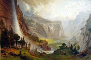 Famous Artists - The Domes of the Yosemite by Albert Bierstadt