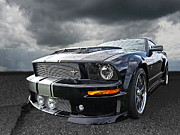 Racing Mustangs Posters - The Dominator - Cervini Mustang Poster by Gill Billington