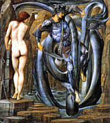 Perseus Posters - The Doom Fulfilled Poster by Edward Coley Burne-Jones