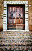 Frame House Prints - The Door at Number 5 Print by Joan Carroll
