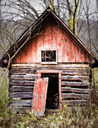 Log Cabin Art Photo Originals - The door is always open by Robert FERD Frank