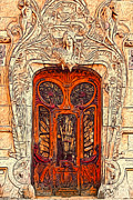 Entrance Door Digital Art Posters - The Door Poster by Jack Zulli