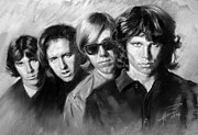 Jim Morrison Drawings Prints - The Doors Print by Viola El