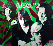 Bands Painting Prints - The Doors Print by Joshua Morton
