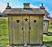 Antique Outhouse Framed Prints - The Double Love Boat Outhouse Framed Print by Lee Dos Santos