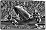 Dc-3 Posters - The Douglas DC-3 Airplane II Poster by David Patterson