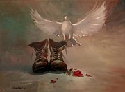 Democracy Painting Originals - The Dove and The Dictator by Ye Htut