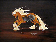 Beer Oil Paintings - The Draft Horse by Tia