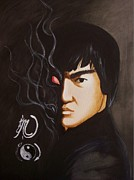 Bruce Lee Paintings - The Dragon by Amber Stanford