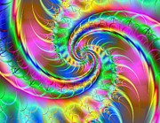 Digita Art Digital Art - The Dragons Tail by Ester  Rogers
