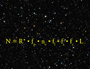 Out There Framed Prints - THE DRAKE EQUATION - SCIENTIFIC ESTIMATE of TECHNO ALIEN CIVILIZATIONS Framed Print by Daniel Hagerman