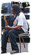 Dreadlocks Prints - The Dreaded Sax Print by Steve Harrington