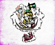 Mad Hatter Pastels Prints - The Dream Print by Bitta
