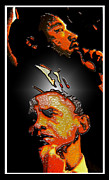 Martin Luther King Mixed Media Posters - The Dream Realized Poster by Myrna Hawkins