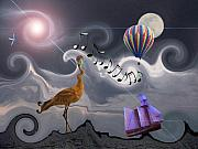Hot Air Balloons Digital Art - The Dream Voyage - Mad World Series by Amanda Vouglas