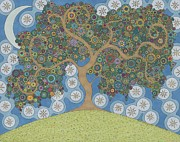 Dreams Drawings Posters - The Dreaming Tree Poster by Pamela Schiermeyer