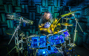 Drums Photo Posters - The Drummer Poster by David Morefield
