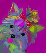 Yorkie Metal Prints - The Duchess Metal Print by Patti Siehien