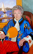 Portraits Paintings - The Duchess by Tom Roderick