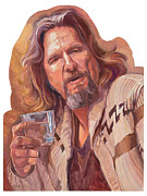 The Dude Paintings - The Dude Abides by Shawn Shea