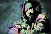 Paulette Wright Digital Art Prints - The Dude - Scatter Watercolor Print by Paulette Wright