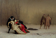 Contest Paintings - The Duel after the Masquerade by Jean Leon Gerome