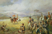 Military Painting Framed Prints - The Duel  Fair Play Framed Print by Robert Alexander Hillingford
