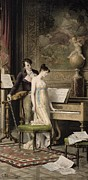 The Duet Print by Karl the Elder Schweninger