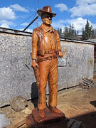 Western Art Sculptures - The duke-2 by Dwayne  Davis