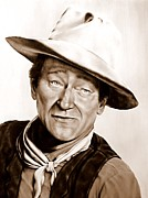 John Wayne Paintings - The Duke by Georgia Doyle